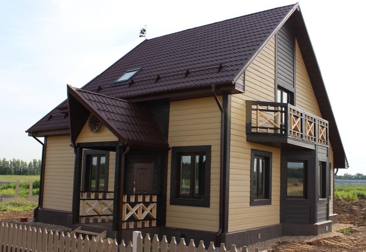 сайдингом фото дизайн частных домов