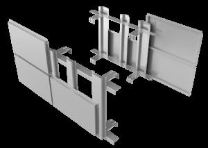 Оцинкованная подсистемы вентилируемого фасада